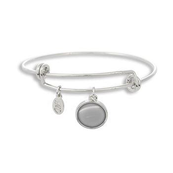 Adjustable Band Bangle Charm Bracelet