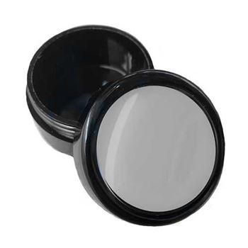 Blank Black Plastic Round Pill Box